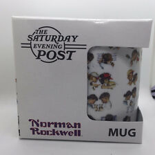 Norman Rockwell Coffee Tea Mug Day in the Life of a Boy 11oz Ceramic New in Box
