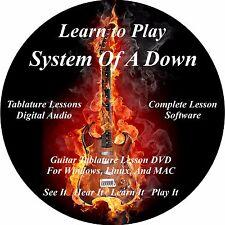 System Of A Down Guitar TABS Lesson CD 121 Songs + Back Tracks + BONUS!