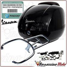 BAULETTO NERO 94 + PORTAPACCHI ORIGINALE VESPA GTS 250 2009 2010 2011 2012
