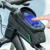ROCKBROS Bike Touch Screen Phone Holder Waterproof Front Top Tube Bag 5.8/6.0''