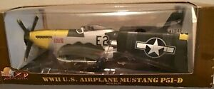Ultimate Soldier X-D WWII Mustang P51-D w/Pilot 1:18 Scale, #10100 - NIB