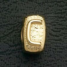 European Beads Charms Initial C Gold Plated Stainless Steel Charm Bracelet Bead