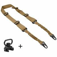 2 Point Rifle Sling with QD Sling Swivel Adjustable Length for Shooting
