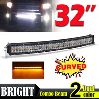 "CoLight 32"" Curved Led Light Bar Spot+Flood Combo Beam Strobe Flash 4 Modes"