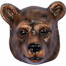 Child Bear Mask Plastic Brown Grizzly Animal Halloween Costume Accessory
