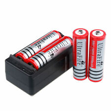 4pcs UltraFire 3000mAh 18650 Battery 3.7V Li-ion Rechargeable Bat Cell +Charger