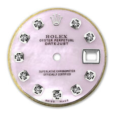 REFINED LADIES SS DATEJUST PINK MOP DIAMOND DIAL FOR ROLEX-26