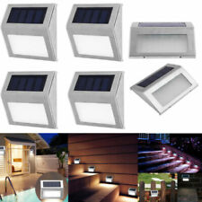 3Led Solar Powered Lights Path Decking Stair Wall Mounted Fence Step Garden Lamp