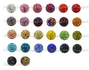5/10/20 10mm Premium Quality Crystal Paved Clay Disco Ball Shamballa Beads