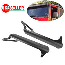 "For 52"" LED Light Bar Steel Windshield Mounting Brackets Jeep Wrangler TJ 97-06"