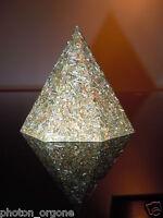 Geo Orgone Spiritual Octogonal 23k Gold Brass Shungite 8 Sided Hematite Pyramid