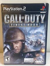 Call of Duty Finest Hour (Sony PlayStation 2, 2004) by Activision COMPLETE!