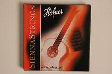 Conjunto de cuerdas para guitarra concierto/guitarra Höfner Sienna guitar strings nuevo