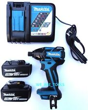 Makita Brushless 18V XDT08 1/4 Impact Driver, 2 BL1830 Batteries,Charger 18 Volt