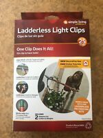 NEW 25 Party Christmas Ladderless Gutter & shingle Light Clips With Pole adaptor