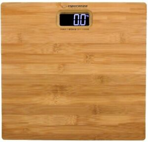 BATHROOM SCALE LED NATURAL BAMBOO 180 KG  LCD Screen EU Stock Free Shipping