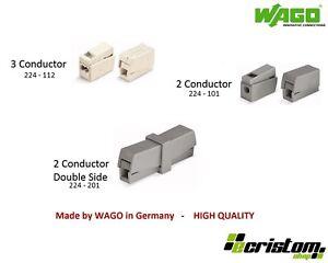 Wago Reusable Lighting Electrical Connector 224-101 224-112 224-201 Series Block