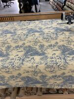 "Discontinued Waverly Toile Upholstery Fabric 54"" By The Yard"