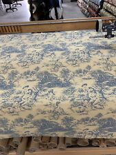 """Discontinued Waverly Toile Upholstery Fabric 54"""" By The Yard"""