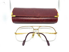 RARE! CARTIER ORSAY    Vintage Eyeglasses / Sunglasses GOLD Tank with Case 20511