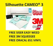 Silhouette Cameo PLotter Cutting Machine Serie 3 Free Siser Oracal 3m Squeege
