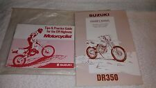 Suzuki DR350 Off Road Dual Sport Motorcycle Bike Owners Manual & Practice Guide