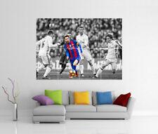 Lionel MESSI BARCELLONA Real Madrid Ronaldo CR7 GIGANTE wall art print poster