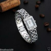 HOT Women's Bracelet Stainless Steel Crystal Dial Analog Quartz Wrist Watch Gift