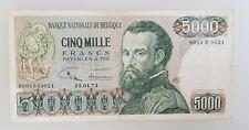 5000 Francs-Frank.1971 Belgique-Belgïe Vesale