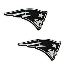 2pc NFL New England Patriots 3D Chrome Plastic Auto Car Truck Emblem Made in USA