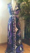 GORGEOUS EMILIO PUCCI EVENING PROM GOWN VERY RARE AUTHENTIC VINTAGE SIZE S/M
