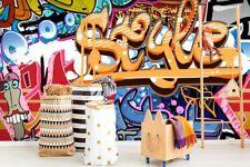 3D Abstract Art Street Graffiti Wallpaper Wall Murals Removable Wallpaper 023