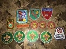 Boy Scout Lot Of 13 Old Patches NLS Camping School OA 50th NOAC JLT BSA