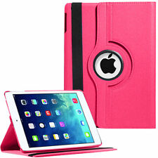 Pink Leather 360° Rotating Stand Case For iPad AIR 2 / IPAD 6 UK FREE DISPATCH