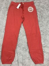 NWT Hollister Co SWEATPANTS Pants Banded Joggers Red Medium
