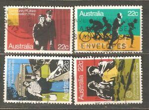 Australia: full set of 4 used stamps: Community Welfare, 1980, Mi#720-3