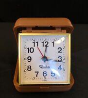 Folding Westclox Traveling Alarm Clock Vintage
