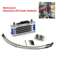For 50cc 70cc 90cc 110cc Dirt Pit Bike ATV CNC Blue Oil Cooler Cooling Radiator