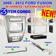 2010-2012 FORD FUSION CAR STEREO RADIO DOUBLE DIN INSTALLATION DASH KIT HARNESS