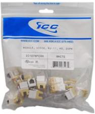 ICC IC1076FCWH MODULE, VOICE, RJ-11, HD, 25PK, White NEW