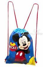 Disney Mickey Mouse Drawstring String Backpack Sling Tote Bag - Blue