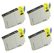 4 COMPATIBLE BLACK INK CARTRIDGES REPLACE T0711 / TO711 Epson SX DX printers