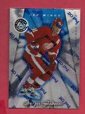 1997-98 RED WINGS SERGEI FEDOROV # 56 CERTIFIED BLUE 0055/3099 INSERT CARD