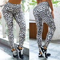 Women Leopard Yoga Leggings High Waist Fitness Gym Pants Jogger Sports Trousers