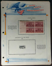 Vintage White Ace Plate Block Pages #68-75, 1950-1951