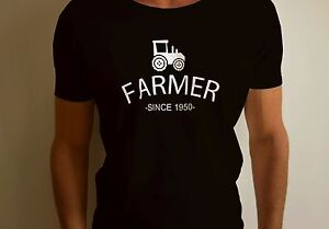FARMER SINCE T SHIRT FUNNY TRACTOR PERSONALISED GIFT PRESENT