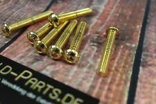 Linsenkopfschraube mit Innensechskant M6x20 GOLD vergoldet M6 Schraube Linsen