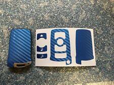 Carbon Blau Schlüssel Folie BMW Key E67 5er E67  6er 7er E65 E66 E M 3 Tasten