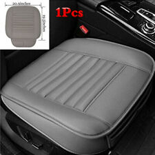 Front Car Seat Cushion Breathable Bamboo Charcoal Seat Cover Mat Gray Universal