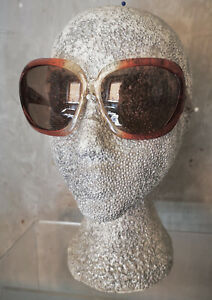 Vintage 70s Red/Clear Italian Oversized Sunglasses